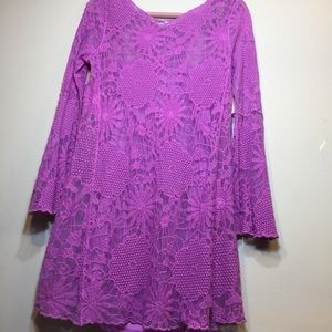 GB   Embroidered Lace Dress   Large